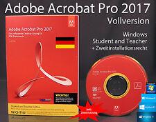Adobe Acrobat Pro 2017 Vollversion Box, CD, Handbuch Win Student/Teacher OVP NEU