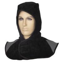 WELDAS Welding Hood Flame Retardant Heavy Duty, Black Split Leather 23-6630