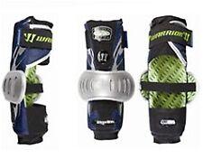New Warrior Millennium Pro Gear 5.5 Large Lacrosse Arm Guard Navy/Silver 1 Pair