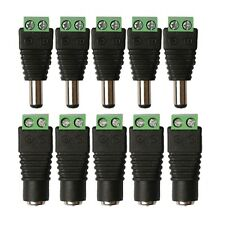 WOW - 10 Pcs DC Power Male + Female Connector Plug Adapter 3528 LED Strips CCTV