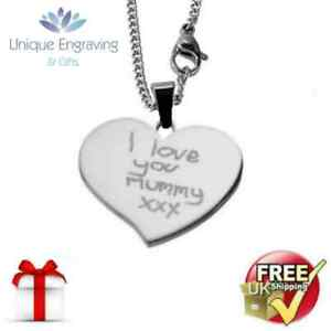 Photo Engraved Flared Heart Pendant - FREE ENGRAVING and UK POSTAGE