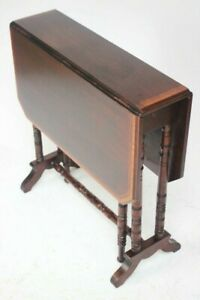 Antique Victorian Inlaid Mahogany Sutherland Table by Waring & Gillow Ltd [6450]