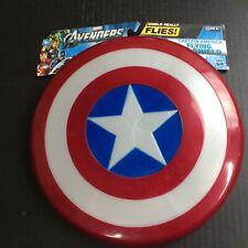 """Captain America Flying Shield Hasbro Avengers 10.5"""" never used w/marks g"""