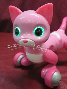 RARE Zoomer Kitty Pink w. Hearts Robot Cat Interactive