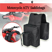 Motorcycle ATV Tool Pouch Side Saddle Bags Saddlebags