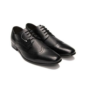 Mens Leather Formal Lace-Up Dress Shoes CLASSIC Everyday Brogue Shoe(AU/UK Size)