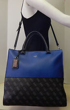 Guess Signature Blue & Black Logo Large Crossbody Shoulder Bag Handbag Tote