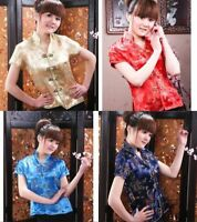 Chinese Tang suit women's Tops/shirt silk blouse Sz: S-2XL