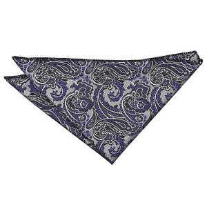 Pocket Square Handkerchief Hanky Floral Royal Paisley Mens Accessory by DQT