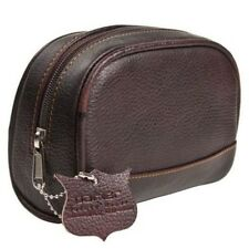 Small Deluxe Handmade Leather Toiletry Bag (dopp Kit) From Parker Safety Razor