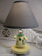 Vintage Irmi Nursery Plastics Inc Yellow Clown Wood Nursery Lamp -New Low Price!