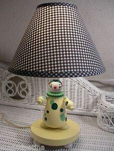 Vintage IRMI Nursery Plastics Inc Yellow Clown Wood Nursery Lamp -NEW LOW PRICE!