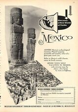 1960 Mexico National Tourism PRINT AD Archaeological Treasures