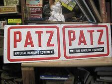 PATZ FARM SIGN MATERIAL HANDLING EQUIPMENT OUT DOOR METAL MACHINERY SEED GRAIN