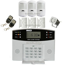 WIRELESS LCD GSM SIM AUTODIAL HOME HOUSE OFFICE BURGLAR INTRUDER SECURITY ALARM