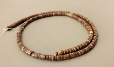 Brown Natural Coconut Heishi Beads (4 - 5 mm, 24 Inches Strand)