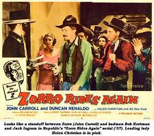 Zorro Rides Again - Cliffhanger Serial DVD   John Carroll Helen Christian