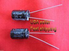3 pcs - 470uf 25v  105C electrolytic capacitors FREE SHIPPING