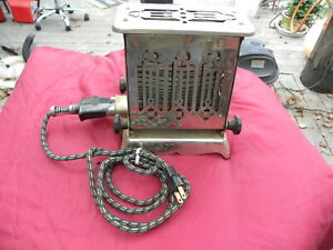 RARE ANTIQUE HOTPOINT EDISON FLIP SIDE TOASTER 1910-20s w/Cord