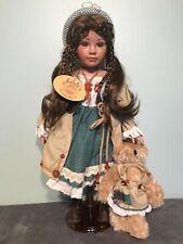 """Nastasja, Adele's Puppenhaus 21"""" Porcelain Doll w/Bear, Ltd Ed 661/1000"""