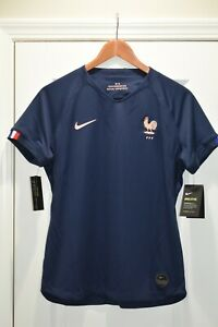 Nike 2019/20 France World Cup Jersey Home Stadium Blue Womens Size Large $90 NWT