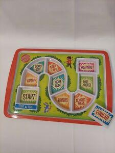Fred DINNER WINNER Kids' Melamine Dinner Tray Plate Eating Game