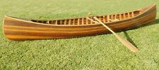 Cedar Strip Built Canoe Wooden Boat 12' Flat Matte Finish Woodenboat USA