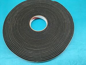 """3/4"""" X 50' x 1/8"""" Roll Neoprene Foam Press On Seal Tape P8118 Weather Sealant"""