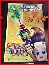 "NICKELODEON Jimmy Neutron Movie (2001) Vinyl 78x45"" Movie Theatre Banner"