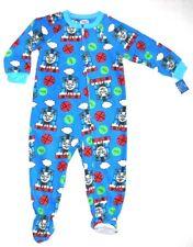 THOMAS THE TRAIN Sz 2T FOOTED PAJAMAS BLANKET SLEEPER PJS Toddler Boys BLUE NWT
