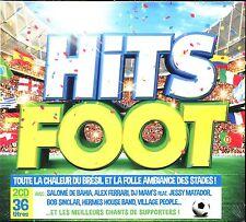 HITS FOOT - LA FOLLE AMBIANCE DES STADES - 2 CD COMPILATION NEUF ET SOUS CELLO