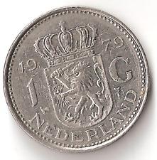 1979 The Netherlands 1 G Coin Holland Dutch Gulden
