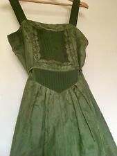 Fleur Wood Gorgeous Designer Silk Green Midi Dress 3 (10/12)