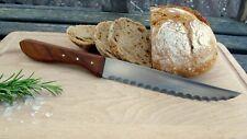 Brotmesser Handarbeit Solingen Mertens 70er Holz Kirsche Sau Scharf