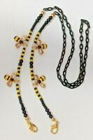 Mask Chain Holder Bumble Bee Save The Bees Mask Lanyard Bees Jewelry Lanyard