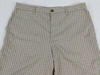 Adidas Mens Plaid Flat Front Shorts Size 36