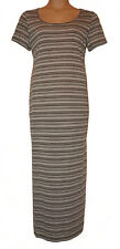 BNWT size 18  DOROTHY PERKINS MAXI DRESS in  KHAKI / WHITE