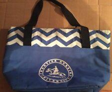 "Cooler Bag Zippered Closure Blue & White 12 X 18 X 6"" Embossed Fronteir Nursing"