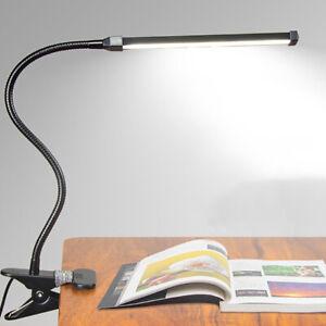 Adjustable USB Clip-On LED Reading Cold Light Bedside Table Desk Lamp For Study