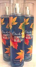 Bath & Body Works Orchard Leaves & Blue Sky Fragrance Mist Set of 3