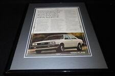 1981 Audi 4000 4E 11x14 Framed ORIGINAL Vintage Advertisement