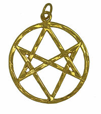 New Celtic Unicursal Hexagram 24K Gold Plated charm pentagram 5 Elements Jewelry