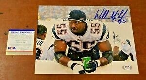 WILLIE McGINEST Signed 8x10 Photo-NEW ENGLAND PATRIOTS-PSA Authenticated