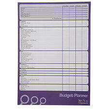A4 Budget, Finance, Money Planner - 50 Sheets Per Pad - Plan Weekly or Monthly
