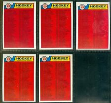 1983-84 O-Pee-Chee OPC '83 NHL Hockey Un-Marked Checklist LOT of 14 Cards NM