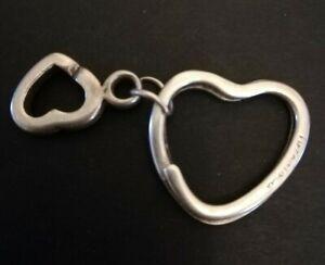 A Vintage Tiffany & Co Silver Heart Key Ring