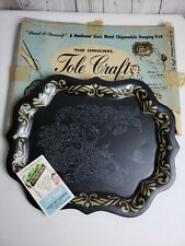 Vintage Tole Craft Tray Fruit and Flowers Paint By Number, Unpainted in Box