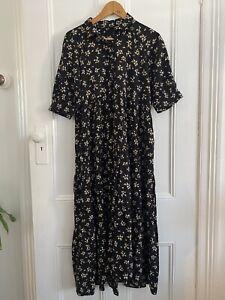 Zara Tiered Dress Size Medium Womens