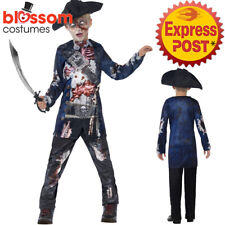 CK1048 Deluxe Jolly Rotten Boys Pirate Zombie Halloween Fancy Dress Up Costume