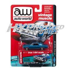 AUTOWORLD 1:64 1967 CHEVROLET CHEVELLE SS DIE-CAST BLUE AW64132-A